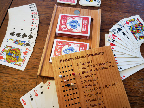 Deluxe / Travel Frustration Rummy Board