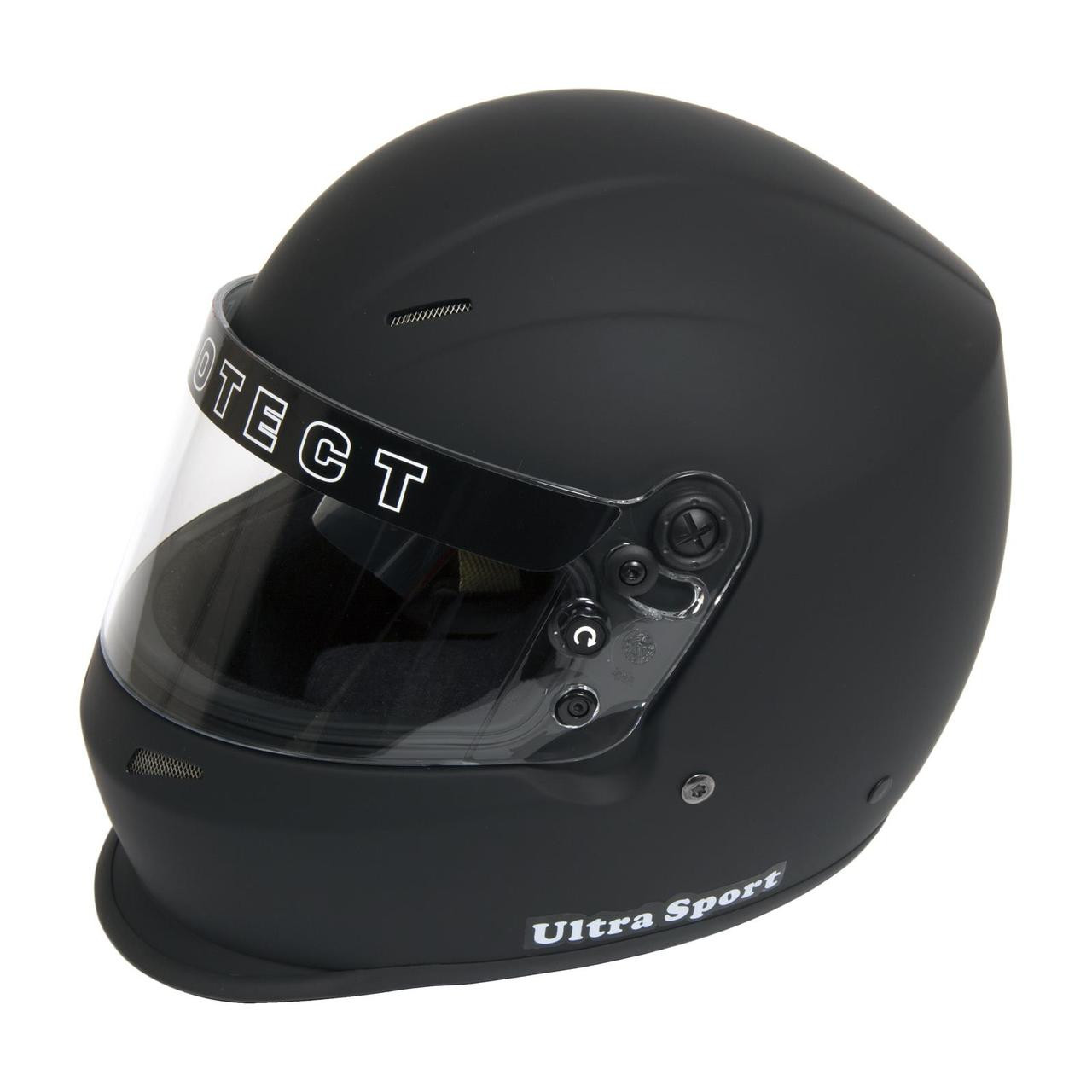 Pyrotect Ultra-Sport Duckbill SA2015 Full Face Helmet Large Flat Black 8304005