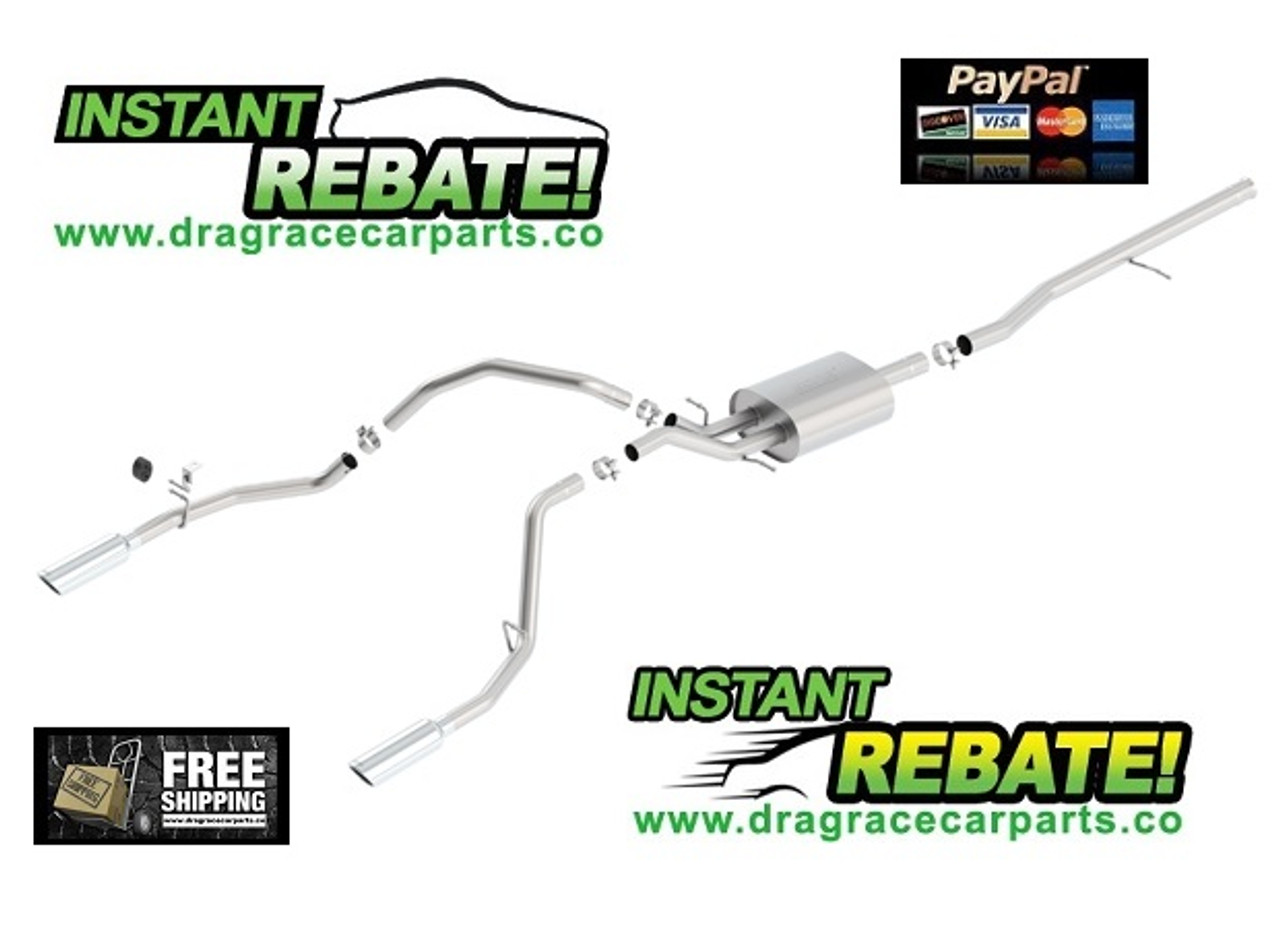 Borla S-Type Cat-Back Exhaust Systems 14-18 CHEVY GMC PICKUP 140536 with FREE SHIPPING and INSTANT REBATE SAVINGS
