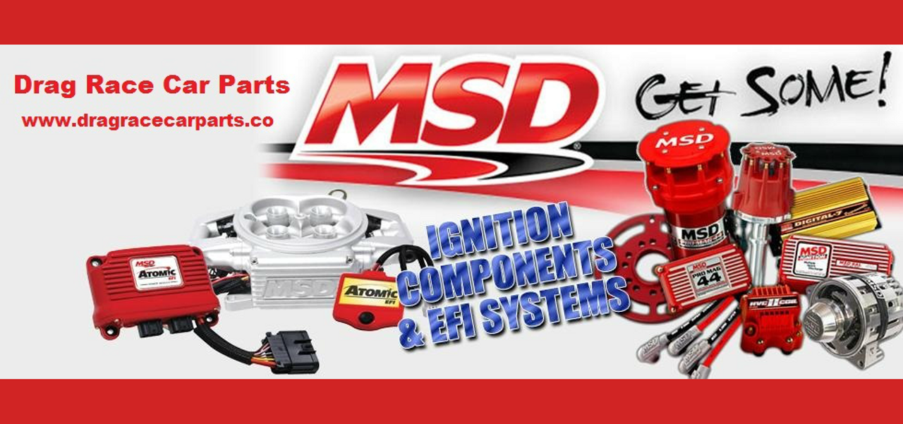 MSD Ignition Red Distributor Cap and Rotor Kit V8 Pro Billet 84335