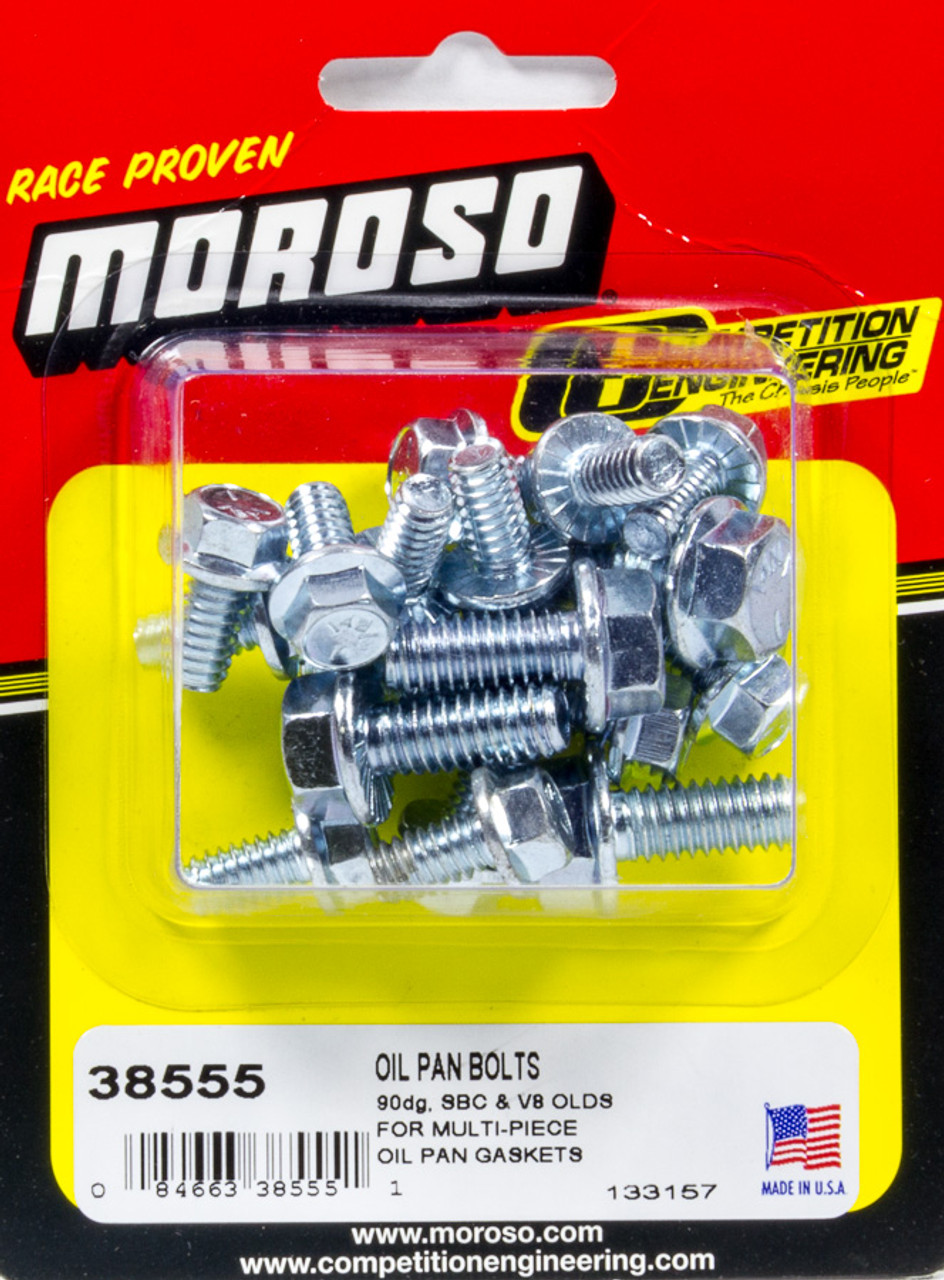 Moroso Oil Pan Bolt Kit Chevy V6 V8 Oldsmobile V8 18 pcs 38555
