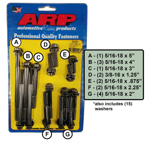ARP Timing Cover Bolt Kits 154-3201