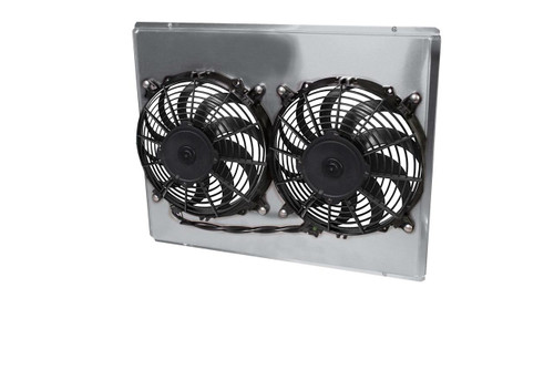 AFCO Racing Electric Fan and Aluminum Shroud Kits 84255-F-DS-Y