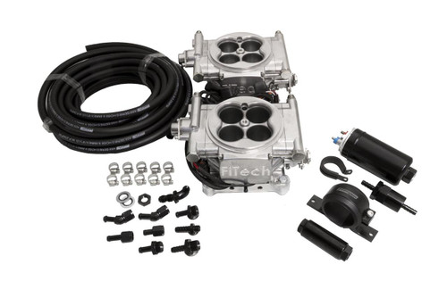 FiTech Fuel Injection Go EFI 2x4 Dual-Quad 625 HP Self-Tuning Fuel Injection Systems 31061