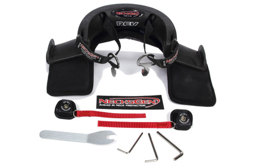 Nexng23 Neck Support, REV, SFI 38.1, Carbon Fiber, Large, Kit
