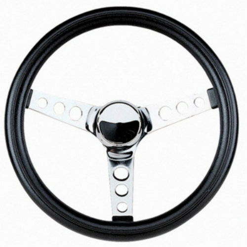 Grant Products Classic Black Foam Chrome Steering Wheel 11 1/2 In. 834