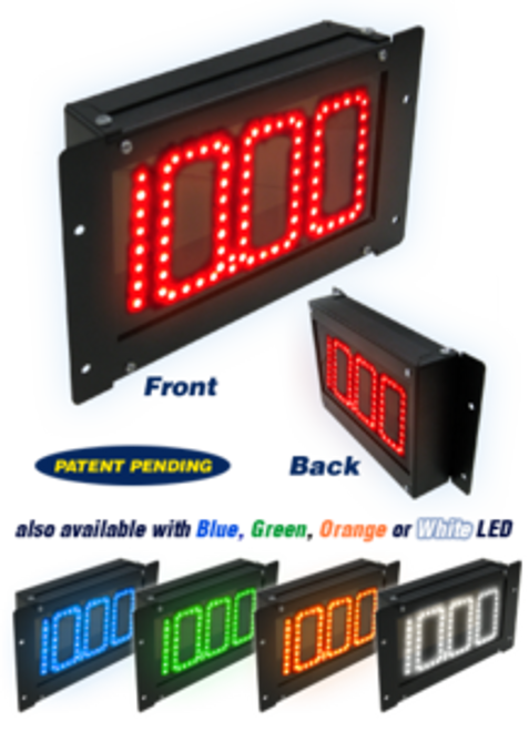 Digital Delay MEGA DIAL V2 with Black Dual View Dial In Display Boards 1060-B-DV, 1060-BR-DV - Black DualView with RED LED. 1060-BB-DV - Black DualView with BLUE LED, 1060-BG-DV - Black DualView with GREEN LED, 1060-BW-DV - Black DualView with WHITE LED