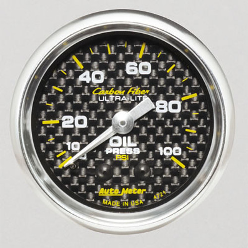 AutoMeter Auto Meter Carbon Fiber Ultra-Lite Analog Gauges 4721