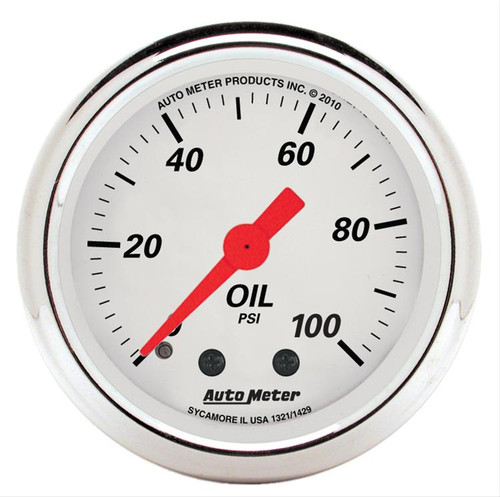 AutoMeter Auto Meter Arctic White Analog Gauges 1321