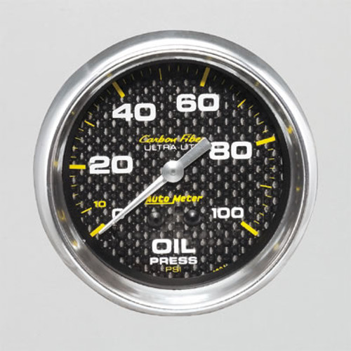 AutoMeter Auto Meter Carbon Fiber Ultra-Lite Analog Gauges 4821