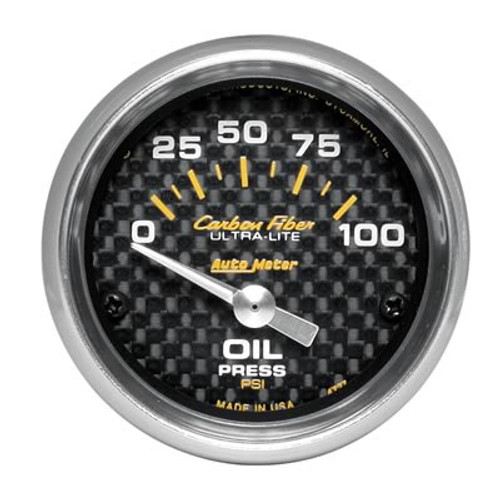 AutoMeter Auto Meter Carbon Fiber Ultra-Lite Analog Gauges 4727