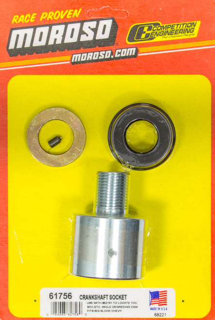 Moroso 11 or 18 Inch Degree Wheel Crankshaft Socket 1/2 In Drive 61756