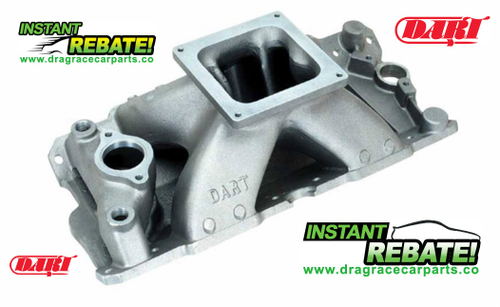 Dart Single Plane Intake Manifold SBC Small Block Chevy 4500 Dominator Carb Mounting Flange 42421000 with FREE SHIPPING an INSTANT REBATE SAVINGS