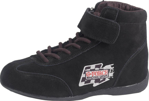 G-FORCE GF235 Race Grip Mid-Top Racing Shoes 0235040BK