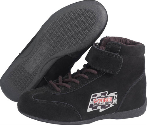 G-FORCE GF235 Race Grip Mid-Top Racing Shoes 0235060BK