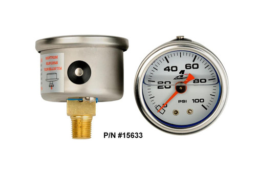 Aeromotive Fuel Pressure Gauges 15633