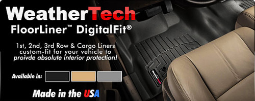 WeatherTech DigitalFit FloorLiners and Cargo Liners at Drag Race Car Parts