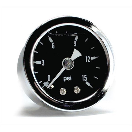 "Big End Performance Products 1 1/2"" 0-15 PSI Pressure Gauges - Black 15020"