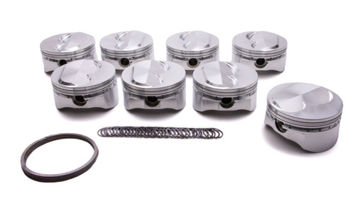Small Block Chevy DOMED Piston Set of 8 4.155 Bore 4.000 Stroke