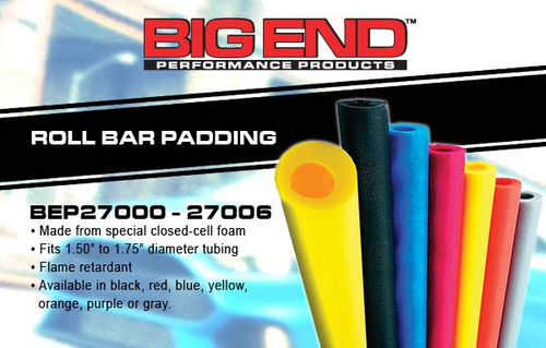 Big End Performance Roll Bar Padding (7 Colors To Choose From)