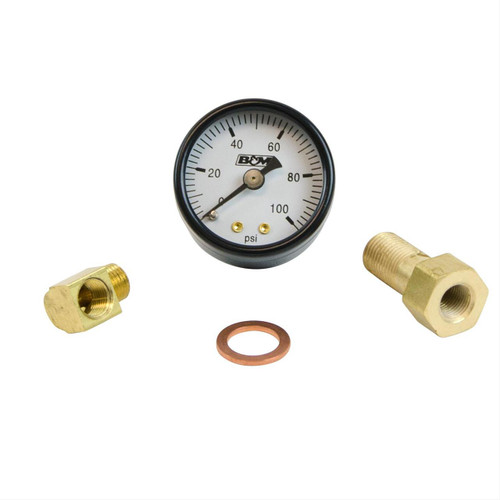 B&M Analog Fuel Pressure Gauge Sets 46054