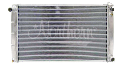 Aluminum Radiator, High Performance, fits many 1966 - 1986 GM Intermediate and Full-size Cars, 1973 - 1993 GM Trucks with Manual Transmission 205055