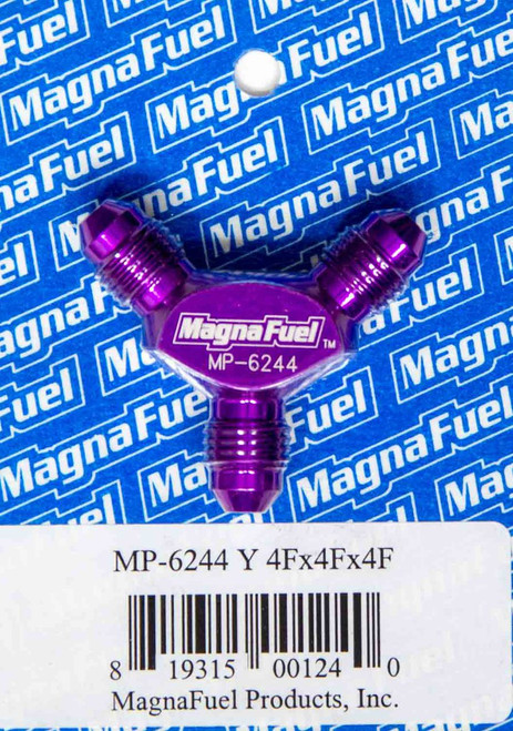 MagnaFuel Y Fittings -4AN Male All 3 Ports MP-6244