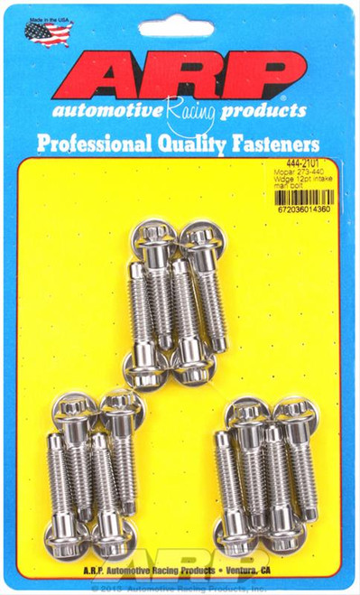 ARP 414-2101 Stainless Steel Intake Bolt Kit