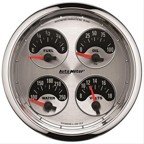 AutoMeter Auto Meter American Muscle Analog Gauge Kits 1225