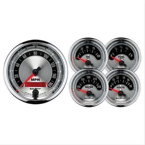 AutoMeter Auto Meter American Muscle Analog Gauge Kits 1202
