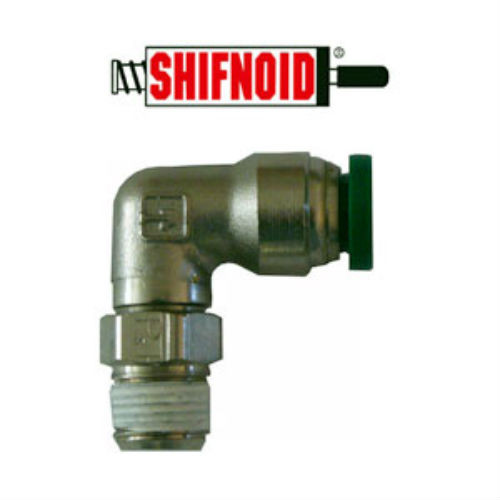 "Shifnoid Air Line Fitting 90 degree 1/8""NPT to 1/4"" Line PC300"