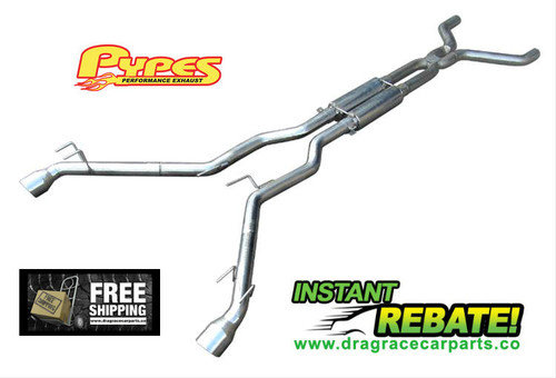 Pypes Converter-Back Exhaust System 10-14 Chevy Camaro 6.2L V8 SGF50K with FREE SHIPPING and INSTANT REBATE SAVINGS