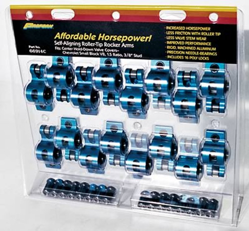 Proform Parts Extruded Aluminum Roller Rocker Arms 66907C