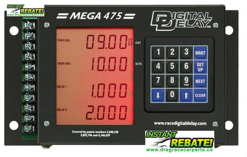 Digital Delay Mega 475 Delay Box with built-in Mega Dial controller 1095-BR (Black Case with Red LED) with FREE SHIPPING and INSTANT REBATE SAVINGS