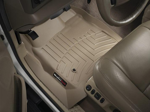 WeatherTech DigitalFit TAN FloorLiners 99-07 Ford Super Duty SuperCrew 450021 - 450022 with FREE SHIPPING (FRONT)