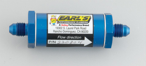 Earl's Performance Inline Fuel Filters 230204ERL