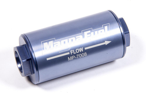 Fuel Filter, Gasoline, Alcohol, Aluminum Housing, 25 Microns, -10 AN Inlet/Outlet, Each MP-7008