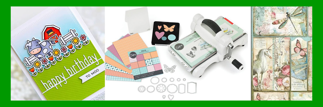 Scrapbooking, card making, paper crafts, stamping, die-cutting, dies, paper, card stock, embossing, pens, stensils, albums, birthday cards, holiday cards