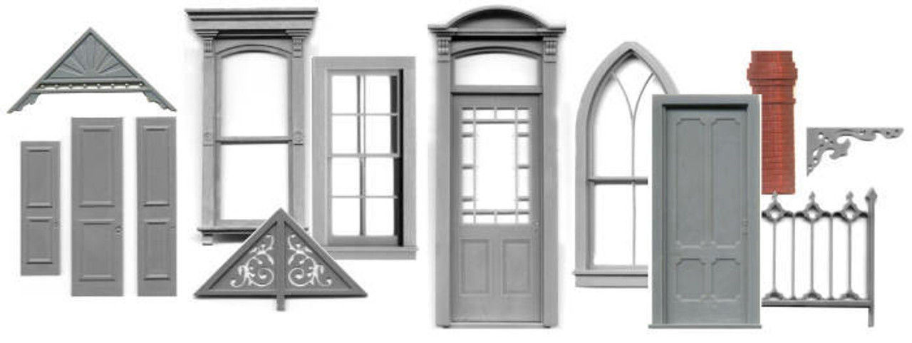 HO SCALE Windows, Doors and Decorative Trims