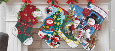 Start A New Holiday Stitching Tradition With Bucilla Felt Applique Kits