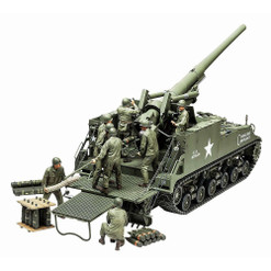 A Long Tom On An Sherman? Yep! The Tamiya M40 Gun Motor Carriage