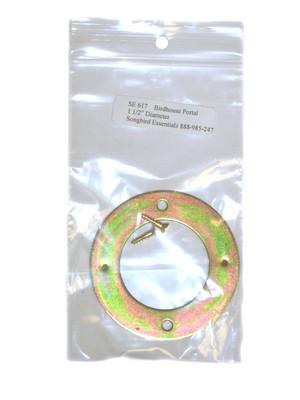 SONGBIRD ESSENTIALS - Birdhouse Door Opening Round Portal Protector 1 1/2 in (Metal) (SE617) 645194617001