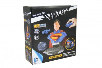 SMALL WORLD TOYS - 3D Puzzle - Justice League SUPERMAN (3357210) 090543572102