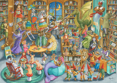 RAVENSBURGER - Midnight at the Library - 1000 Piece Jigsaw Puzzle (RVB-16455) 4005556164554