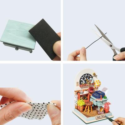 OakridgeStores.com | HANDS CRAFT DYI Miniature House Kit: Record Mood (Study) (DS017) 850026738339