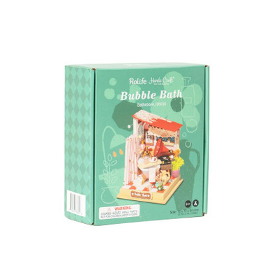OakridgeStores.com | HANDS CRAFT DYI Miniature House Kit: Bubble Bath (Bathroom) (DS018) 850026738346