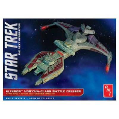 AMT - 1/1400 Star Trek Klingon Vor'cha Plastic Space Model Kit (1027) 849398013496