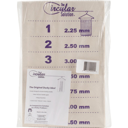 "CIRCULAR SOLUTION - Circular Knitting Needle Numbered Storage Unit-8""X25"" natural (cs-cs) 867092000000"