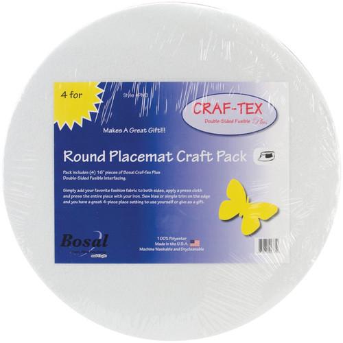 "BOSAL - Craf-Tex Round Place Mat Craft Pack-16"" 4/Pkg (PM3) 834875043752"