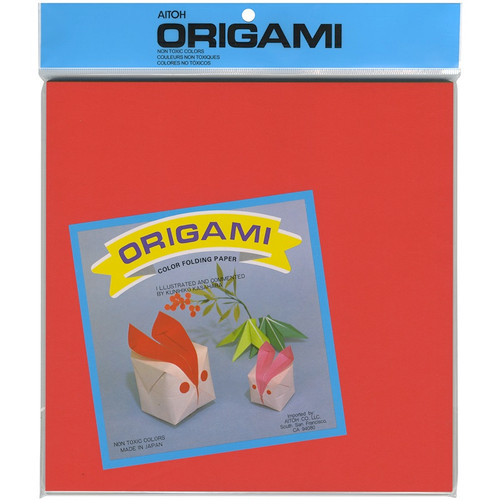 "AITOH - Origami Paper 9.75""X9.75"" 100 Sheets-Assorted Colors (OG-6) 762867010607"